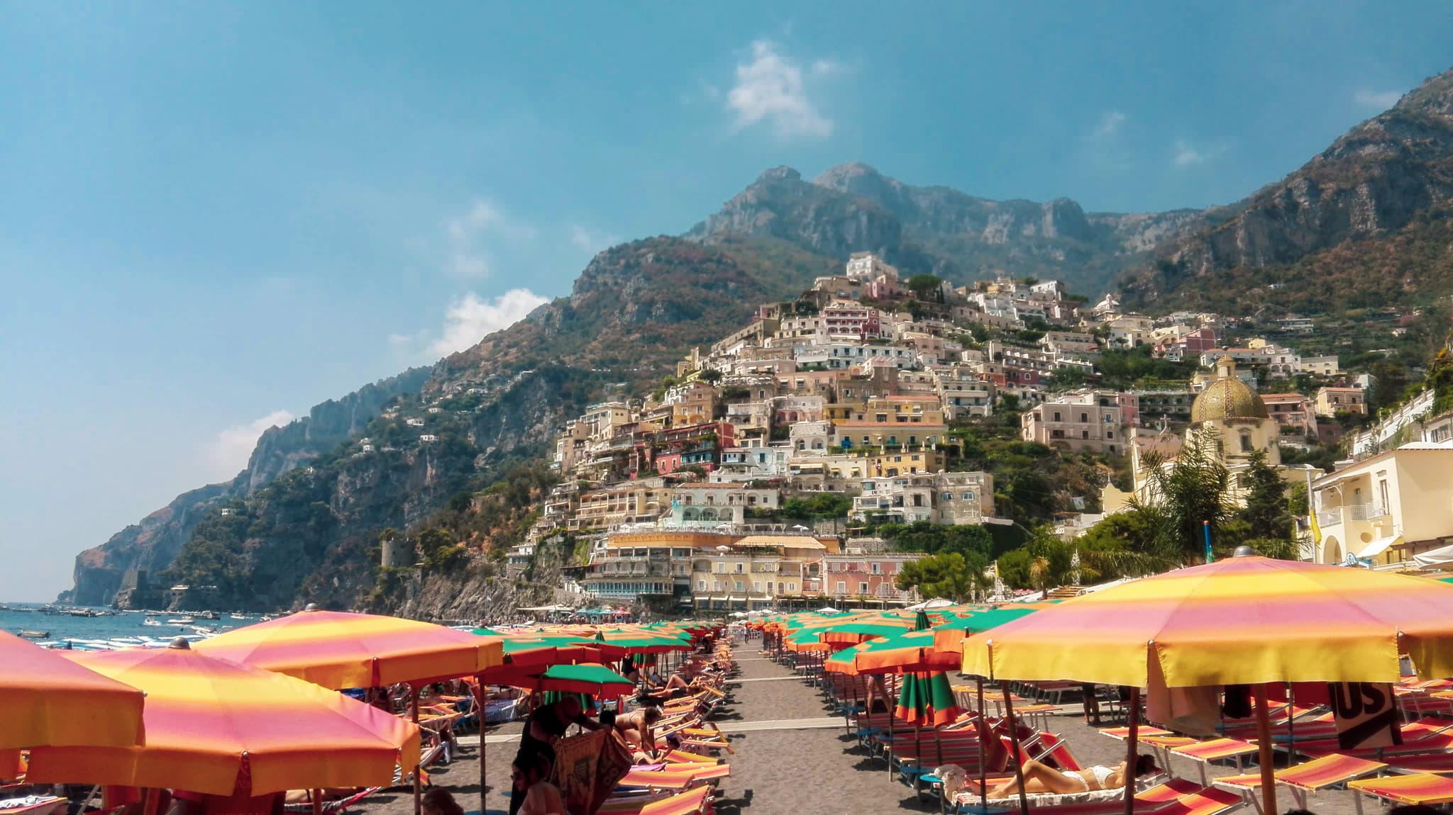 plaża w positano amalfi coast zwiedzanie atrakcje