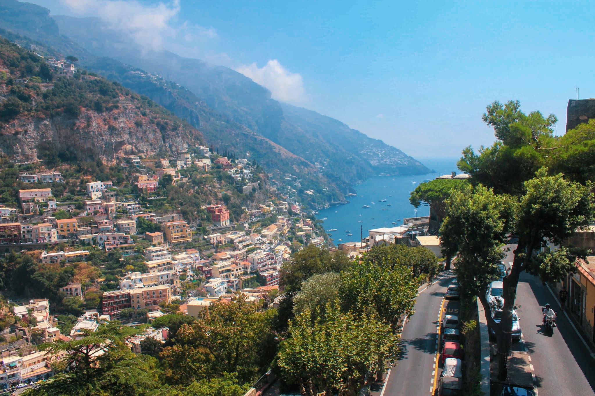 widoki w positano amalfi coast zwiedzanie atrakcje